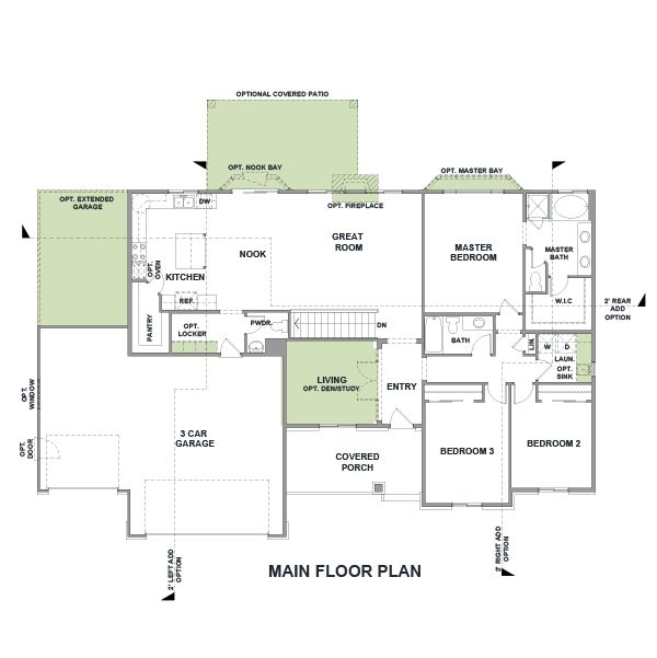 Woodside Homes Floor Plans rambler house plans with basements | legendary model - 3 bedroom
