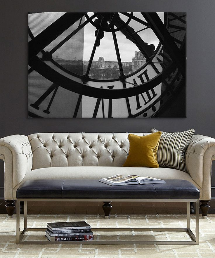 Look at this Clock Tower In Paris Canvas on #zulily today!