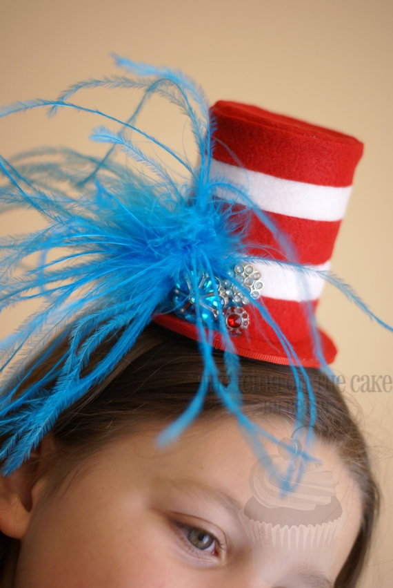 Seuss Inspired Hat  Clip in hair or on headband  by icingbybetsy, $23.50