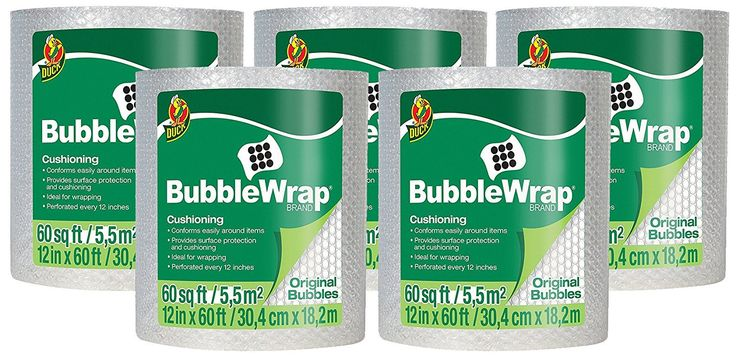 Duck Brand Bubble Wrap Original Protective Packaging UqizL 5Pack 12 in. x 60 ft.