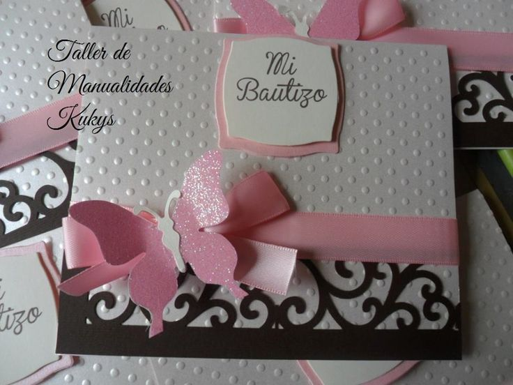 126 best images about tarjetas de bautismo on Pinterest Baby cards, Handmade cards and Baptism