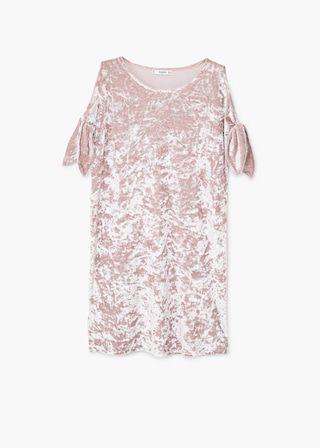 Aksamitna sukienka   MANGO