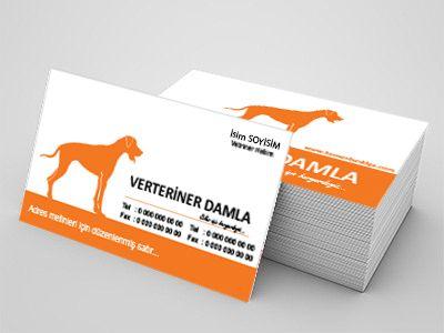 Veterinerlere özel kartvizitler