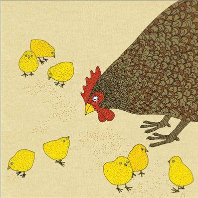 Chicken - Alice Melvin greetings card