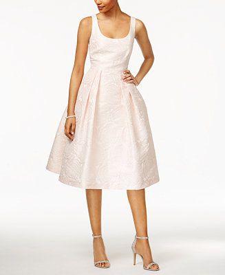 Ivanka Trump Rose Brocade Fit & Flare Dress - Dresses - Women - Macy's