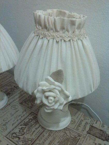 Abat jour con rose di lino <3 Lore Cucito Creativo