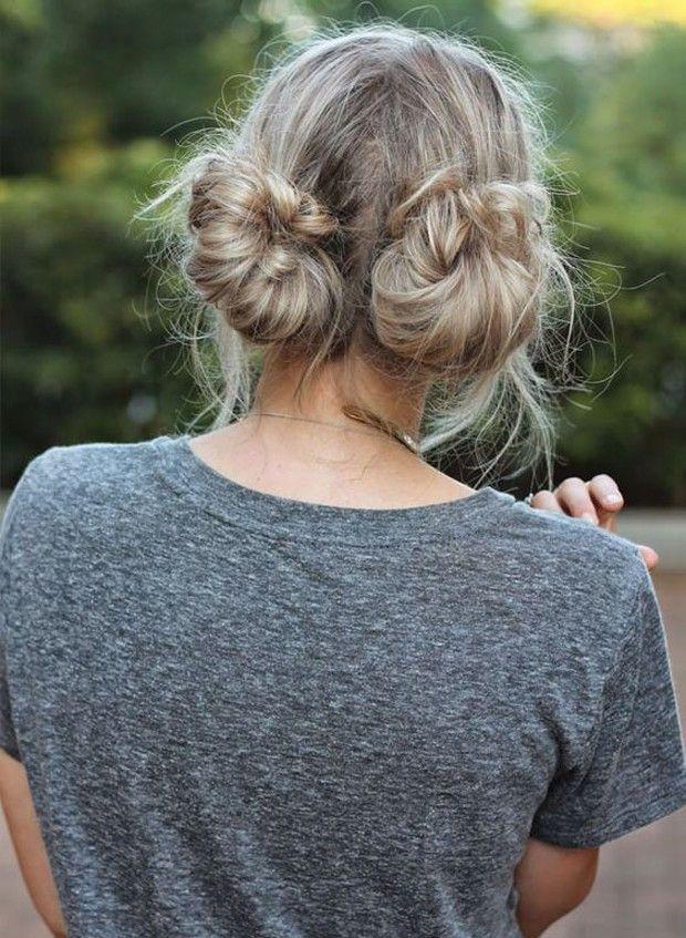 Os 7 penteados mais procurados para o verão: Coque duplo