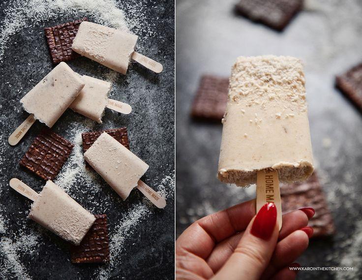 Domowe lody kokosowo-ciasteczkowe   Karo in the Kitchen