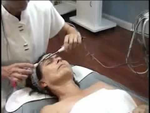 Training on facial equipment