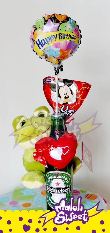 Cerveza con peluches decorada perfecta para regalar info - Dulces de san valentin ...