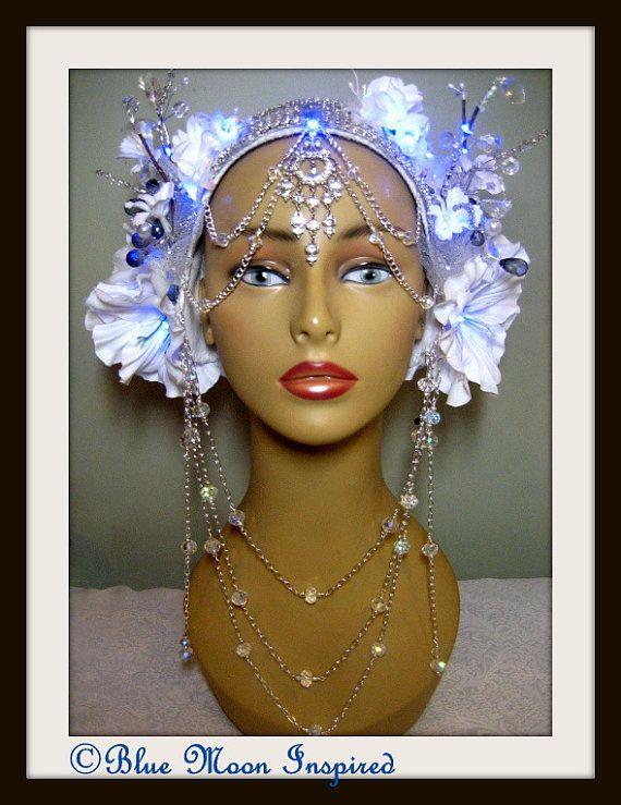Headpiece Burning Man Headpiece Fairy by BlueMoonInspired13, $225.00
