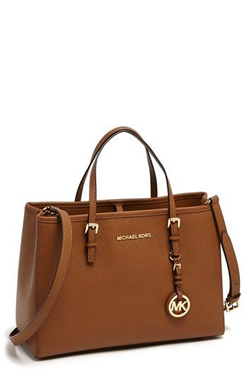 MICHAEL Michael Kors 'Jet Set – East/West' Saffiano Leather Tote available at #Nordstrom