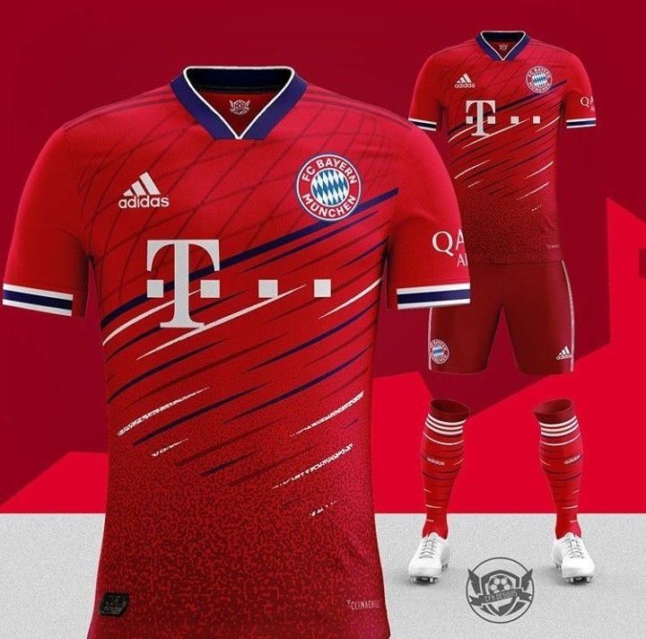 shirt Sport Red concept | Munich  design Bayern ⚽️ kit