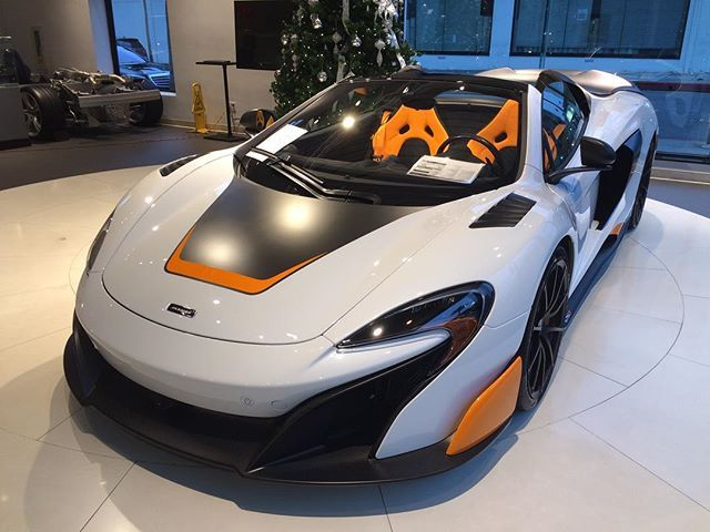 Instagram media by mclarenbeverlyhills - You know you want it.  Call Peter or Joe at (844) 868-6875 for details. It's one of a kind, it's expensive and it's for sale. #McLaren #675LTspider #MSO www.McLarenBeverlyHills.com