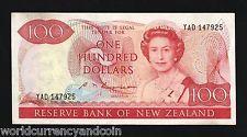 NEW ZEALAND 100 DOLLARS P175 1985 QUEEN TAKAHE BIRD CURRENCY MONEY BILL BANKNOTE