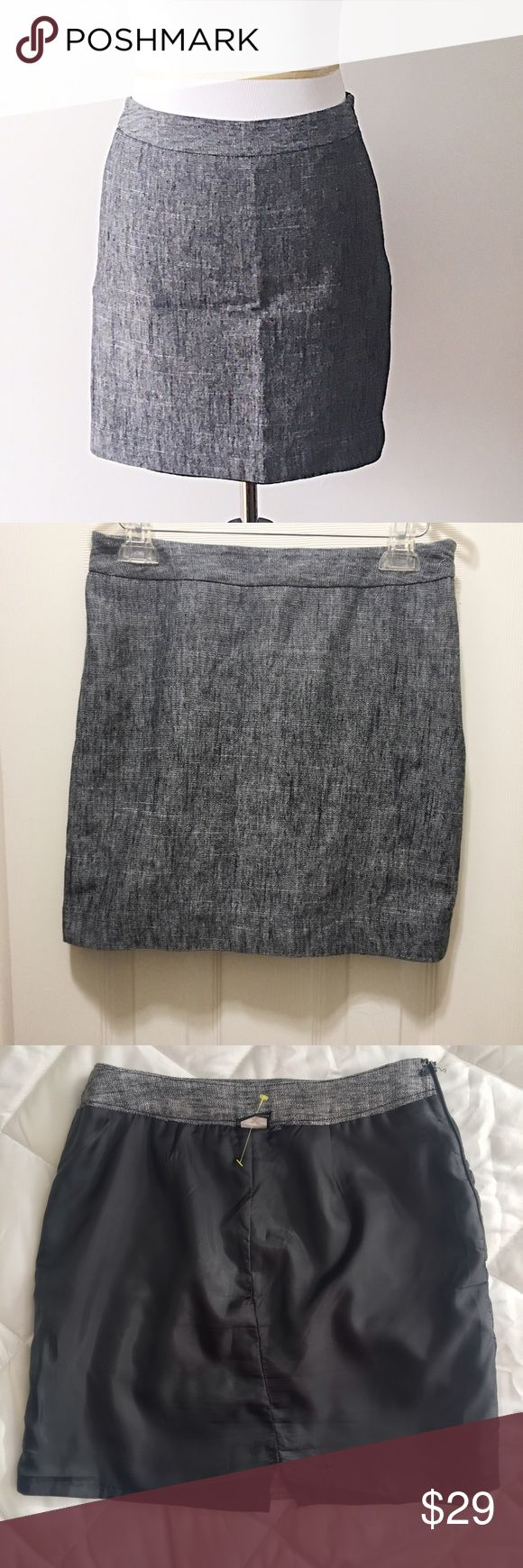 "Nine West Suits Grey Linen Skirt Size 4P Pre-loved grey skirt in great condition. Perfect for the office then a night out. Fits at the hips & has a hidden zipper on the side. It's dry cleaned and ready for you to wear!   * Composition: 53% linen + 47% cotton * Measures 16.5"" long and 14.5"" wide 📦 Bundle + save on shipping  📫 Same day shipping M-F 🚫 NO TRADES Nine West Skirts"