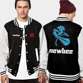 Plus Size DOTA 2 uniforme de beisebol impresso camisolas newbee para a juventude