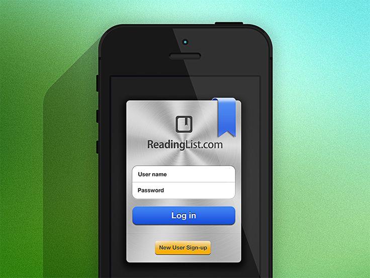 iPhone App - Login Screen