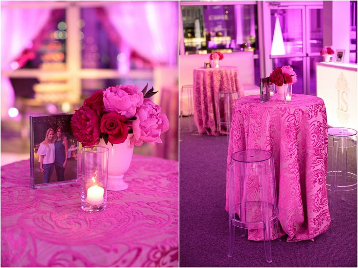 All pink everything! Fuchsia-Infused 50th Birthday Party at The Joule | photos: Jason Kindig Photography | event planning: DFW Events, www.dfwevents.com