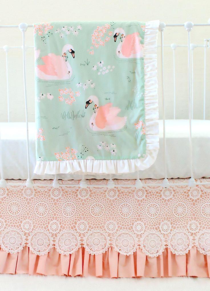 Swan Baby Bedding For An Elegant Vintage Inspired Nursery