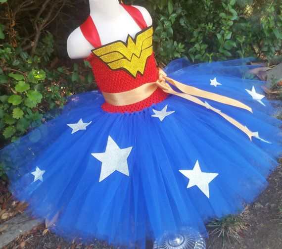 Customizable Wonder Woman Tutu Dress Wonder by TutuOclockSomewhere