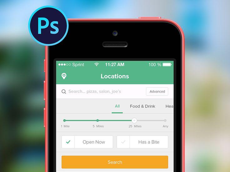 Restaurant app for ios psd restaurants and ui