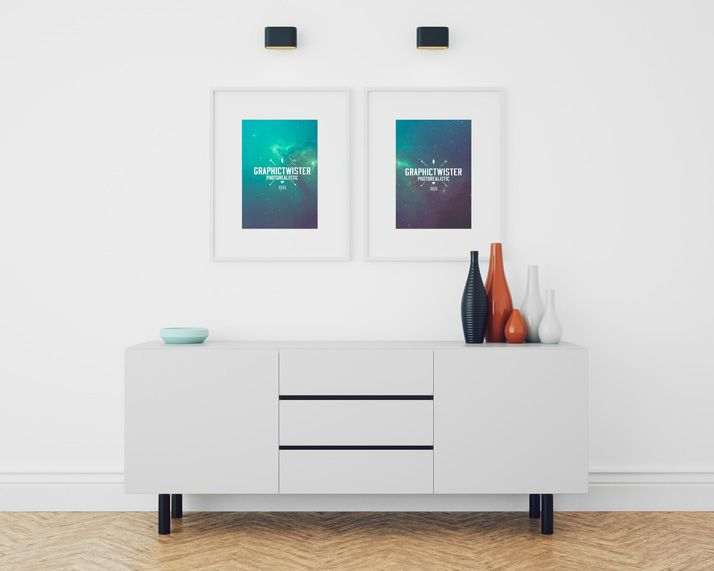 Graphictwister Double Image Frame Mockup