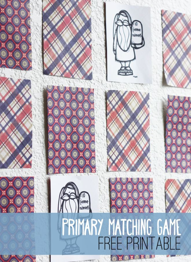 Primary Matching Game - The perfect time filler for your class, or use it for your FHE!