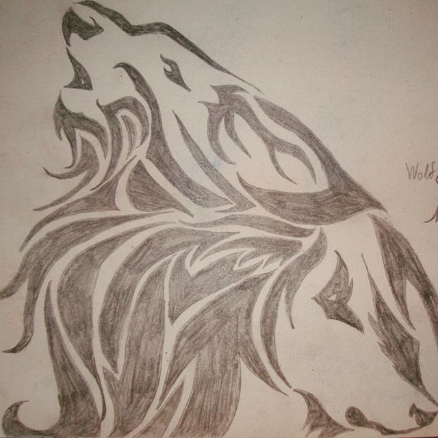 First version of the 'Wolf & Lion' tattoo I liked. I did a second for a gift, I'll post it later.   #lion #wolf #tattoo #sketch #pencil #wolfandlion #practice #firstversion
