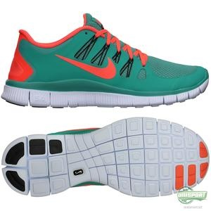 Nike - Løbesko Free 5.0+ Turkis/Orange | www.unisport.dk