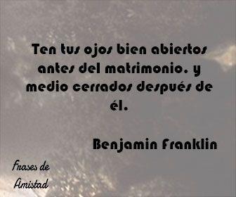 Frases de aniversario de Benjamin Franklin
