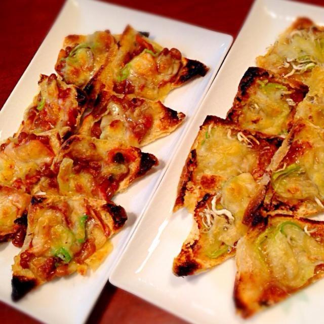 咲きちゃんの人気料理、キツネピザをリピしましたよ〜(*^^*) いつの間にかすごいつくフォト増えてるー!✨✨  今日は納豆キムチーズver.も作りました。こちらも乙でございました旦那は本日キツネピザ初体験でしたが、大変気に入ったようでした  咲きちゃん、いつも美味しいレシピをありがとう〜(♡´ ꒳ ` )ノ - 151件のもぐもぐ - 咲きちゃんの料理 ピリ辛ネギ味噌きつねピザリピ❤️&納豆キムチーズver. by happyhana