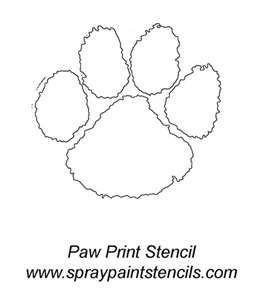 Cat Paw Print Stencil / Printable