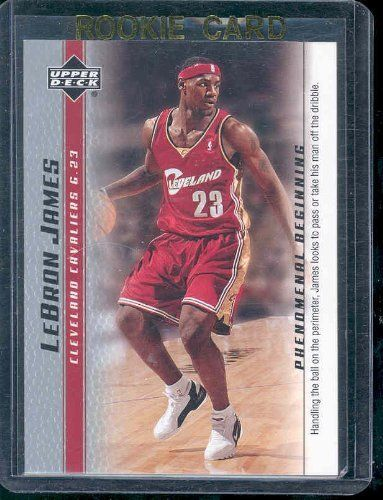 lebron rookie card. 2003 upper deck phenomenal beginning #2 lebron james rookie card by deck. $4.95