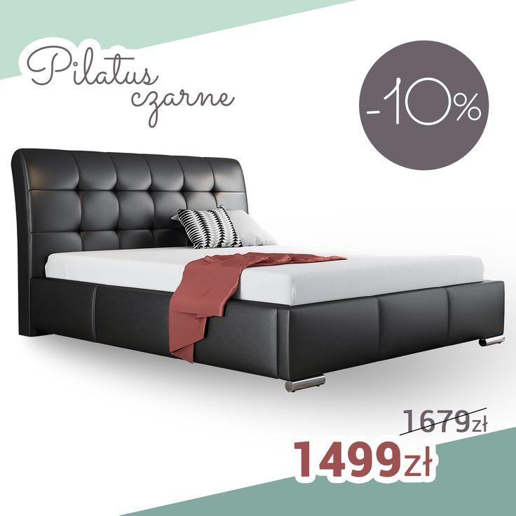 Black bed in glamour style! SALE%%%% Czarne łóżko w stylu glamour! Super promocja %%%% #black #bed #glamour #sale #mirjan24