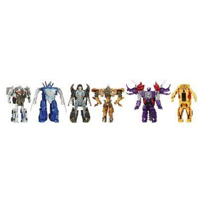 Transformers Age of Extinction MV4 One Step Magic 6Packs Collection Set Exclusive 2 robottodino figures and 4 robottovehicle figuresPlastic No battery used *** Check out this great product.Note:It is affiliate link to Amazon.
