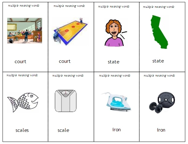 12 Best Multiple Meaning Words Images On Pinterest