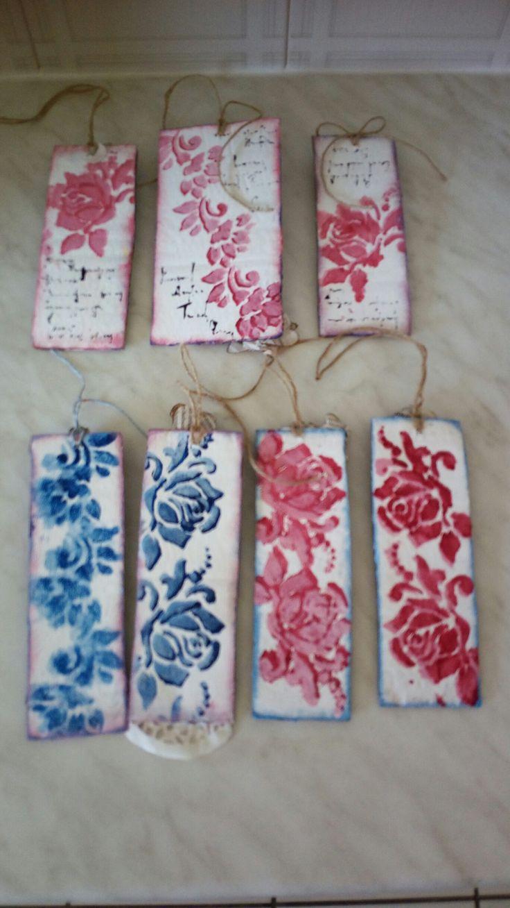 Altered carton ,bookmarks Stella