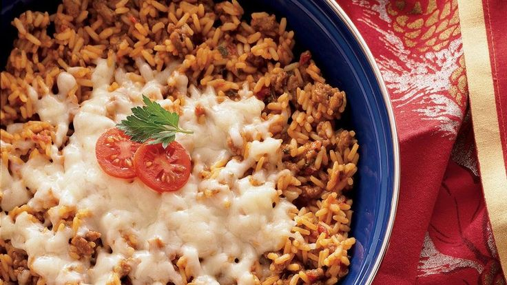 Looking for a hearty Spanish dinner? Then try this skillet meal made using Old El Paso® Rice and burger crumbles - ready in 35 minutes.