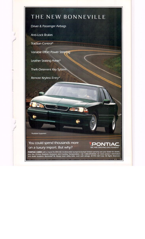 1995 pontiac bonneville national geographic march 1995
