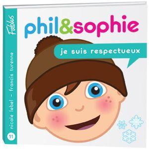 Je suis respectueux  3199700096515 CPRPS Phil et Sophie ont un comportement un peu brusque lorsqu'ils jouent avec leurs amis de la classe neige. Quand ils réalisent qu'eux-mêmes n'aimeraient pas être traités comme ils traitent les autres, ils deviennent plus respectueux et ils se sentent bien mieux. La collection Grandir avec Phil et Sophie de Fablus est une série de livres d'une trentaine de pages destinés aux enfants de 3 à 7 ans.