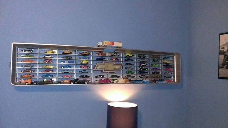 this is one of the coolest hotwheels storage ideas i've seen