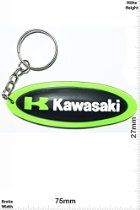 Keychains - K KAWASAKI - long - Motocross BIKE - green- Car Motorcycle - Key Ring - Sport Skate extreme sports Streetwear - Kautschuk Rubber Keyring - perfect also bags, wallets or briefcase - Give away
