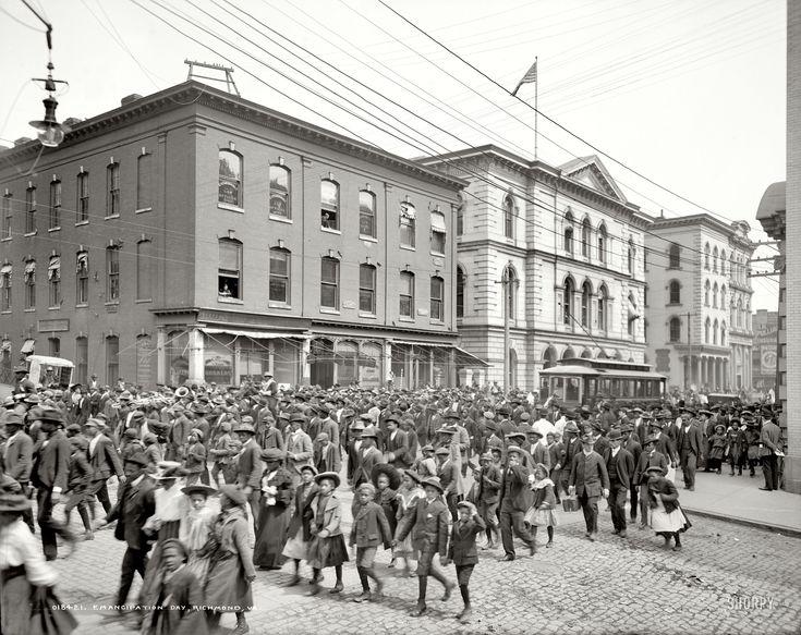 "April 3, 1905. Richmond, Virginia. ""Emancipation Day."""