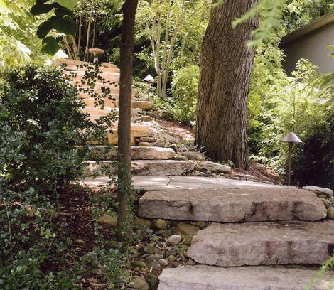 1000 Images About Stone Slab Steps On Pinterest Patio