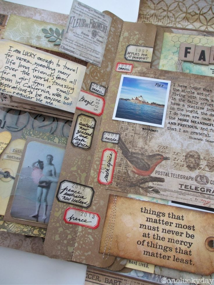 Precious Things 3 - Tim Holtz Collection Folio - by Paula Cheney at One Lucky Day