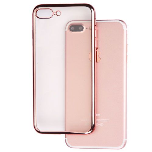 iPhone 7 Plus Phone Case - ASMYNA Rose Gold Glassy Electroplated Premium Candy Skin Cover | AIP7PLUSCASKCH041NP
