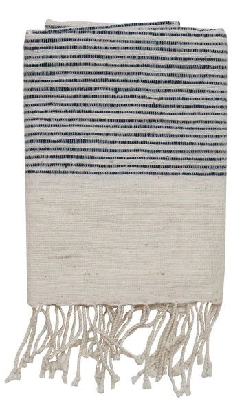 """By Creative Women Soft, natural hand towels with ribbed ends are a classic complement to any style. Hand-spun cotton, handwoven in Ethiopia. 21""""x27""""100% cotton."""