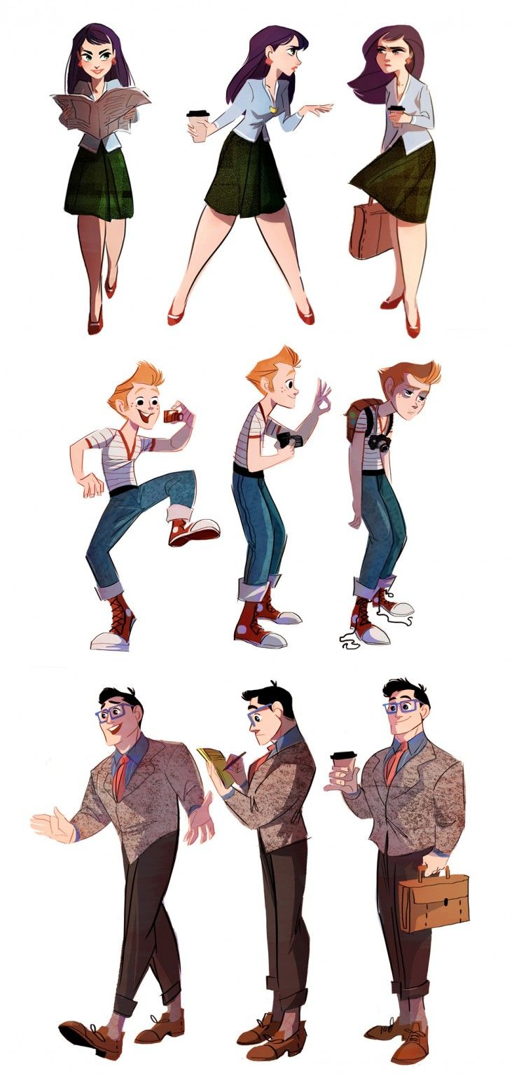 Brittney L. Williams takes on the Daily Planet's finest in a series of illustrations showing Lois Lane, Clark Kent, and Jimmy Olsen doing what they do best