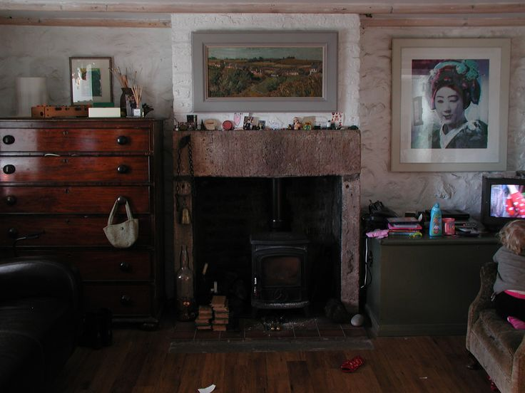 Inside Joan Eardley's Catterline Cottage.